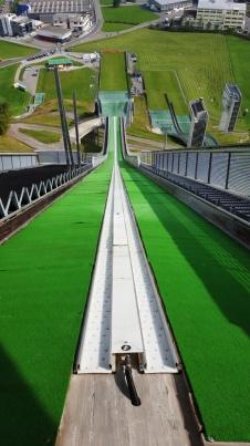 Die Sicht eines Skispringers